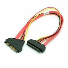 SATA III 3.0 7+15 22 Pin SATA to Data Power Extension Cable
