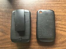 Verizon Blackberry Curve Black, Matte, Rigid Plastic Belt Clip With phone Skin