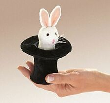 MINI RABBIT in HAT PUPPET #2709 ~ Free Shipping/USA ~ Folkmanis Puppets