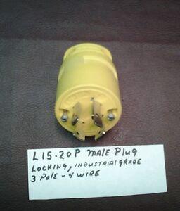 WOODHEAD 2675 SUPER SAFE WAY male plug    20 AMP  NEMA L15-20P