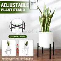 Metal Flower Plant Stand Width Adjustable Pot Rack Holder Outdoor Indoor Decor