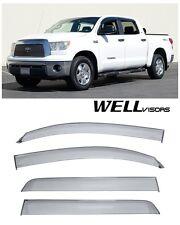 For 07-UP Toyota Tundra Crew Max WellVisors Side Window Visors Premium Series