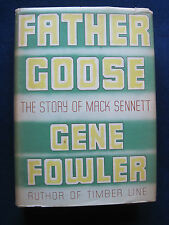FATHER GOOSE MACK SENNETT Bio by GENE FOWLER - SIGNED by Silent Star BEN TURPIN