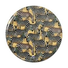African Plains Zebra Herd Grazing Pattern Pinback Button Pin