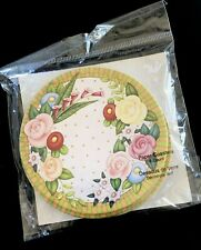Mary Engelbreit 6 Count Drink Coasters Flower Garden Roses Floral New