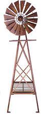 XL Heavy Duty Windmill Metal Iron Garden Ornament Sculpture Rustic Brown 161 cm