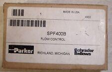 "NEW Parker SPF400B Flow Control Valve 2000 PSI 1/4"" NPT. Ships Today"