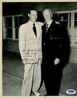 Connie Mack Psa/dna Signed 8x10 Photo Autograph Authentic