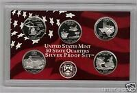 2004 Silver Proof Quarter Set - 5 Coins - No Box/COA