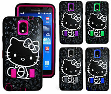 Hello Kitty Matte 2 Layers Shock proof 3 in 1 Case For Samsung Galaxy Note 3