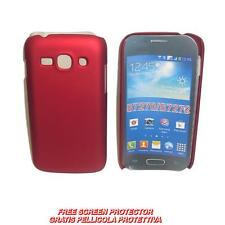 Pellicola+custodia BACK COVER RIGIDA ROSSA per Samsung Galaxy Ace 3 S7270 S7272