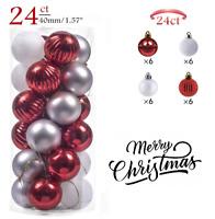 24 Pcs Adorno De Bolas De Navidad y Decoracion Para Arbol De Navidad Nuevo