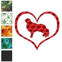 English Toy Spaniel Dog Heart Decal Sticker Choose Pattern + Size #1456