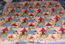 """Fleece Knot Tie Blanket  Camping/Tent/ Outdoors  Handmade Blanket Throw 50""""X60"""""""