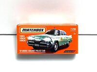71//100 59 Dodge Coronet Police Car 2021 Matchbox Basic Case A