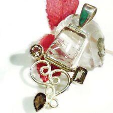 RUTIL RAUCHQUARZ Anhänger ECHT 925 Silber Pendant smokey quartz 02