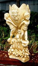 Large Eros 3 Angels Holding Planter Victorian Cherub antique color Vintage