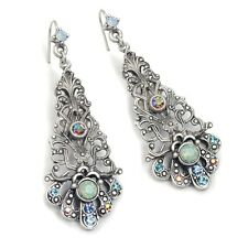 Filigree Earrings St/ Sea Blue New Sweet Romance Victorian Style Starlight