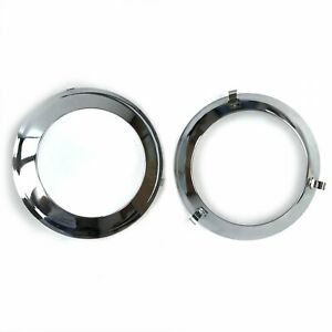 Paintable Plated Trim Ring For Frenched Headlight Kit (Pair) FRHEADTRIMZ