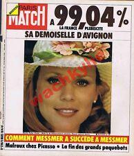 Paris Match n°1296 du 09/03/1974 Marthe Keller Avignon Malraux Picasso Paquebots