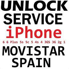 Movistar Spain iPhone 6 6Plus 5s 5c 5 4s 4 3gs 3g 2g Factory Unlock Service
