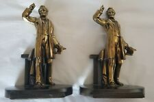 New ListingAbraham Lincoln At Gettysburg Address Bookends - Pmc - Cast Metal