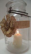 8 Gold Cowgirl Boots Burlap Mason Jar Candle Shower Wedding Party Wraps AU24
