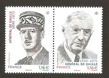 FRANCE 2020 DIPTYQUE N°  CHARLES DE GAULLE NEUF ** LUXE MNH