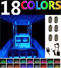 Million Color Boat LED Interior Light Pod Kit For Bass Yacht Wake Pontoon Marine