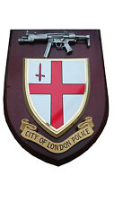 City of London Police Service with Pewter MP5 Military Wall Plaque