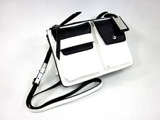 NINE WEST POP POCKET CROSS BODY BAG, SNOW PETAL/BLACK, ONE SIZE, NEW WITH TAGS