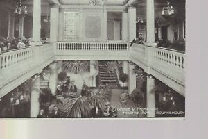 Bournemouth - Lounge & Promenade - Theatre Royal Old Unposted Postcard