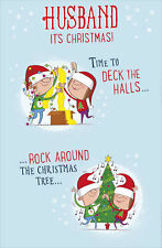 Husband Time To Deck The Halls Funny Christmas Greeting Card Humour Xmas Cards