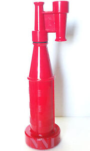 "1-1/2"" NST- NH FORESTRY FIRE HOSE NOZZLE TWIN TIP STRAIGHT STREAM  RED POLY"