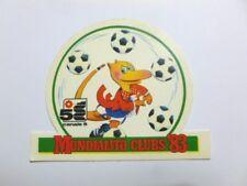 VECCHIO ADESIVO TV RADIO / Old Sticker CANALE 5 MUNDIALITO 1983 (cm 10,5 x 8,5)