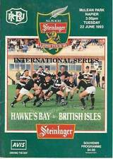 More details for british & irish lions v hawkes bay 22 jun 1993 rugby programme at napier