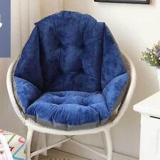 Home Soft Chair Pad Seat Cushion All-Round Pillow Shell Design-Dark Blue