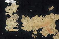 Game of Thrones Westeros Map Giant Poster - A0 A1 A2 A3 A4 Sizes
