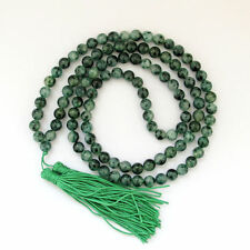 New 8mm Tibet Buddhist 108 Jade Prayer Beads Mala Necklace AAA