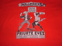 Rare Vintage  Hall & Oates Private Eyes Tour concert t-shirt Japan Tag Sz Small