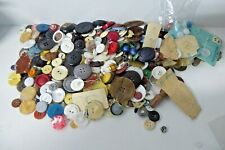 ESTATE BUTTON COLLECTION BAG OF ART DECO ANTIQUE VINTAGE SEWING BUTTONS LEATHER