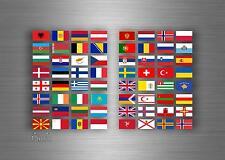 64x adesivi sticker bandiera stati europa europeo scrapbooking collezione r4