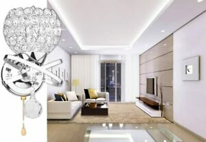 1 Hangrow Crystal Wall Lights LED Candle Modern Style Wall Lamp Switch Pull H