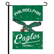 """Philadelphia Eagles 12.5"""" x 18"""" Vintage Linen Garden Flag"""