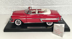 Franklin Mint 1954 Chevrolet Bel Air Convertible Red 1:24