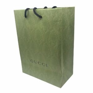 Gucci Green Emerald Paper Bag Packaging Sustainable Authentic Genuine Package