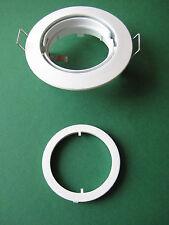 3 X Rutec Einbaustrahler Alu 5537-1 schwenkbar weiß