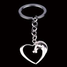 Charm Heart Horse Keyrings Keychain Key Chains Rings Keyfob Women Girl Gifts NEW