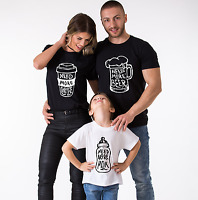 Matching Family T-Shirts Need More Beer Coffee Milk Mommy Daddy Baby Family Tees