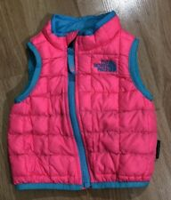 THE NORTH FACE THERMOBALL Full Zip Vest Baby Toddler Size 3-6 Months Pink